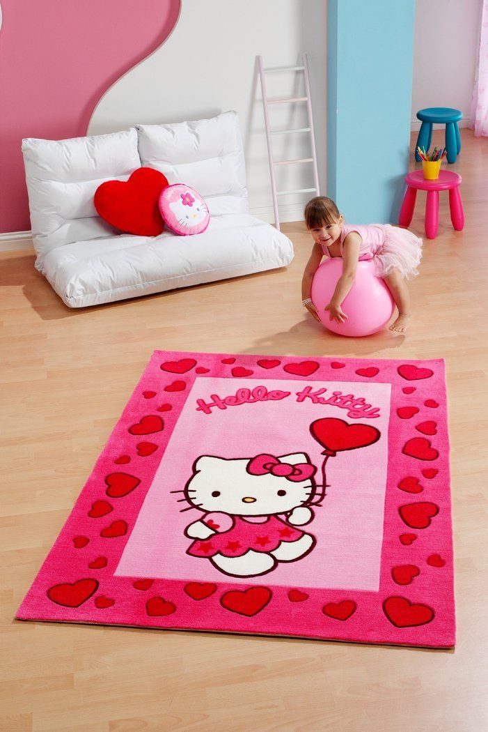 Choosing Kids Area Rugs. Trendy Graceful White And Pink Kids Bedding ...