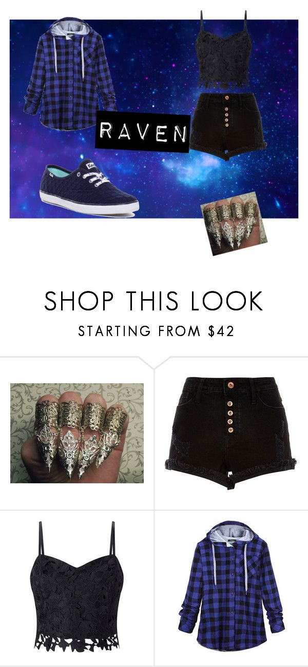 """Raven from the teen titans"" by emmasullivan119 on Polyvore featuring River Island, Lipsy and Keds"