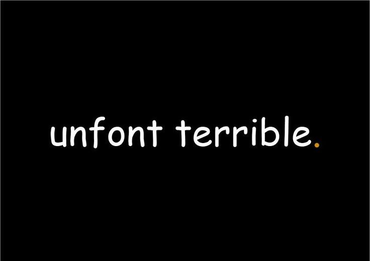 Comic Sans: unfont terrible. Lorenzo Ferrucci.