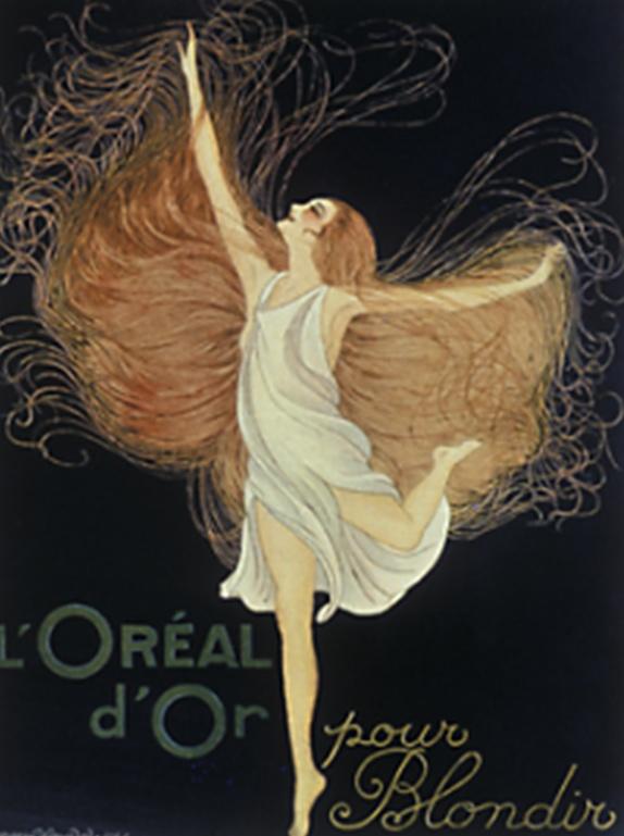 1925 - Eugène Schueller continue d'innover et dévoile L'Oréal d'Or, un produit décolorant révolutionnaire qui crée des nuances dorées pour des blonds encore plus naturels.  © L'Oréal / DR
