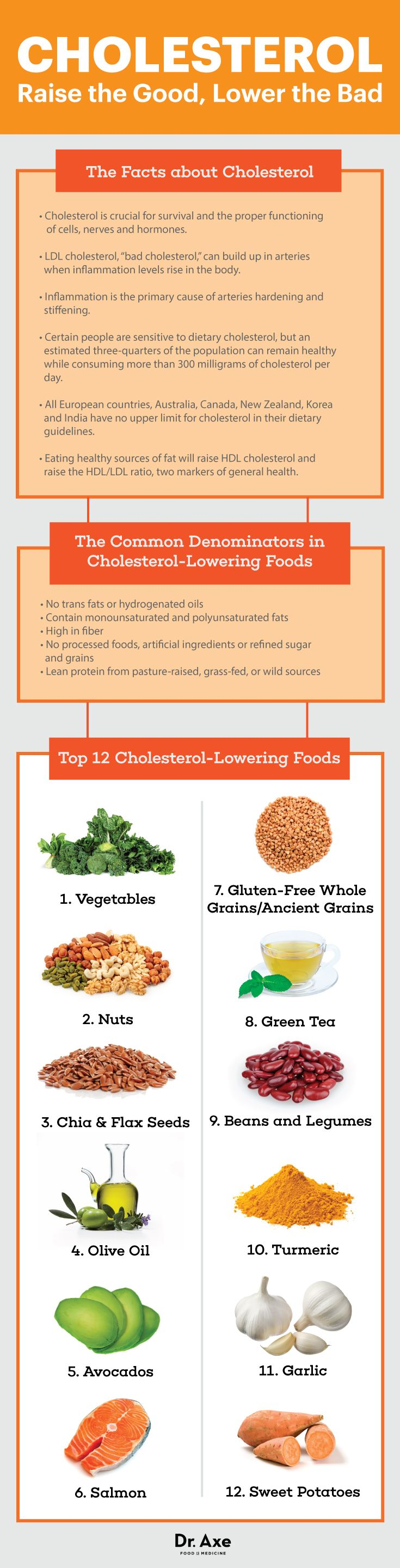 Guide to cholesterol-lowering foods - Dr. Axe http://www.draxe.com #health #holistic #natural