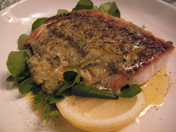 Chargrilled snapper w oregano & honey