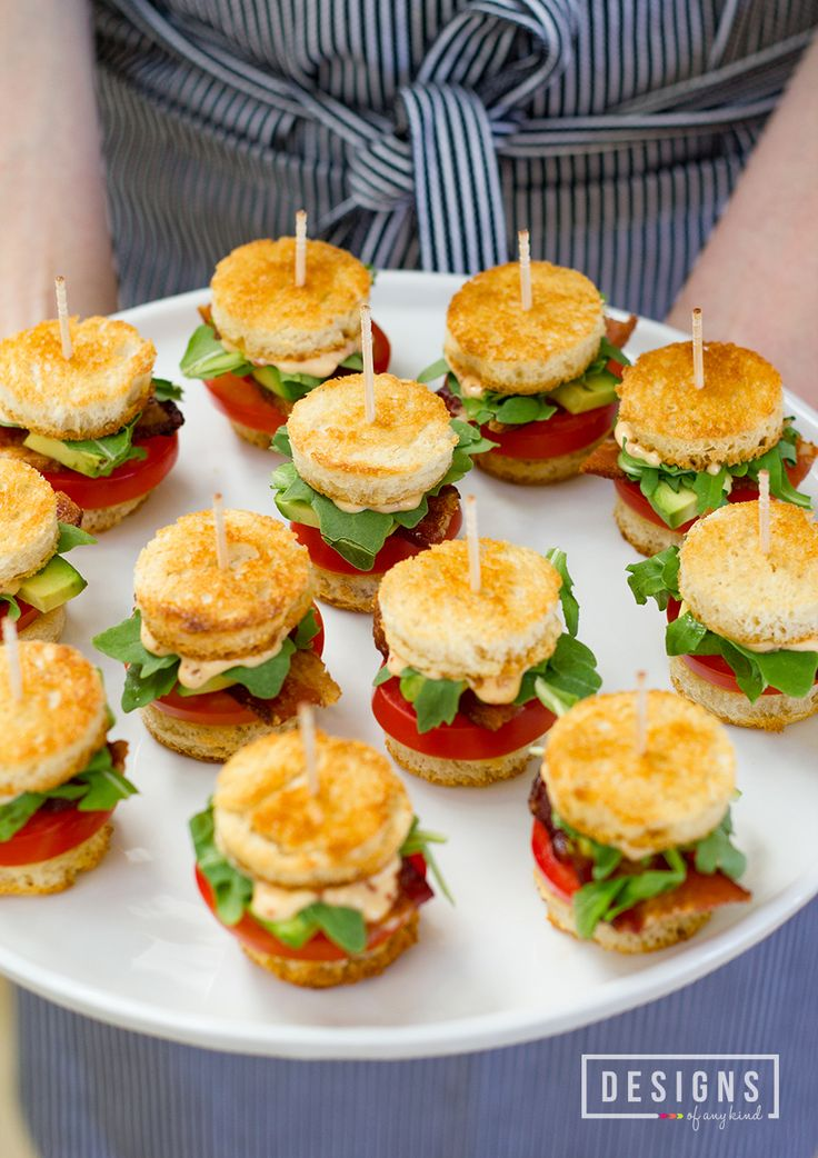 Mini BLTs with Avocado and Chipotle Mayo | This bite-sized twist on the classic BLT sandwich is irresistible when you add fresh avocados and chipotle mayo. Find the recipe on www.designsofanykind.com