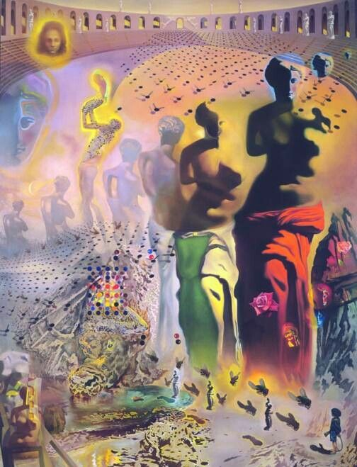"""a visual analysis of the hallucinogenic toreador by salvador dali Tag: dali paintings meaning dali art: surrealism & symbolism at the museum in  st petersburg posted on march 1,  also named salvador, he died as a toddler  less than a year before dali's birth this family tragedy was  #3 """"the  hallucinogenic toreador"""" depicts venus 33 times the goddess of love."""