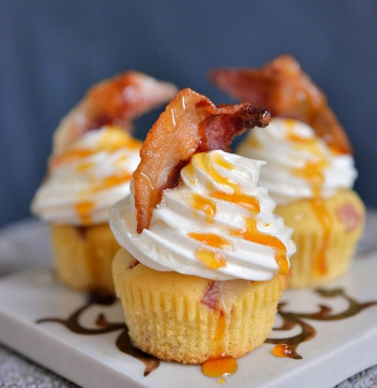 Franciskas Vakre Verden: Cupcakes med Bacon - Say what!!