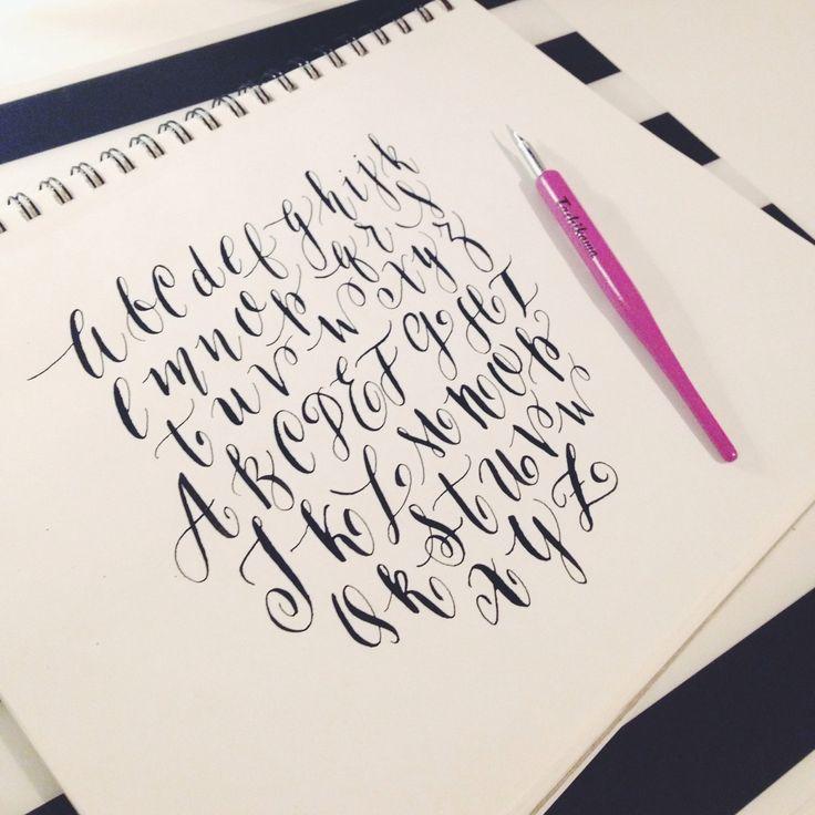 1000 Ideas About Modern Calligraphy Alphabet On Pinterest