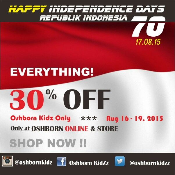 Independence sale, 30% off, c'mon mom,,