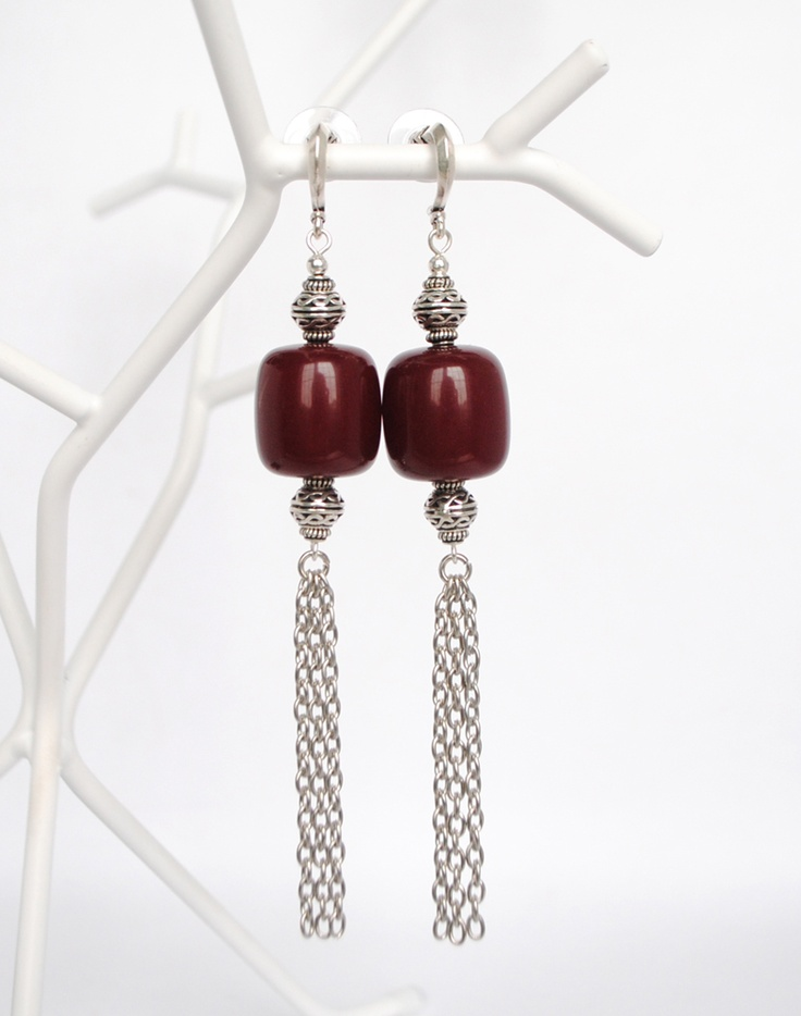 Arabesque burgundy earrings $45  www.GemBoutique.ca  www.etsy.com/shop/GemBoutiqueOnline