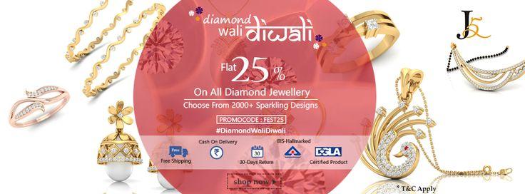 #DiamondWaliDiwali #OnlineJewellery #HappyDiwali  Visit: https://jewels5.com