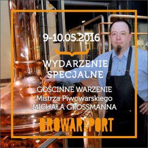 Utytułowany piwowar, Michał Grossmann, który obecnie jest znany szczecinianom jako piwowar Nowego Browaru Szczecin, w dniach 9-10 maja br. gościnnie uwarzy piwo (a raczej 2 piwa) w Gdyni – tę…