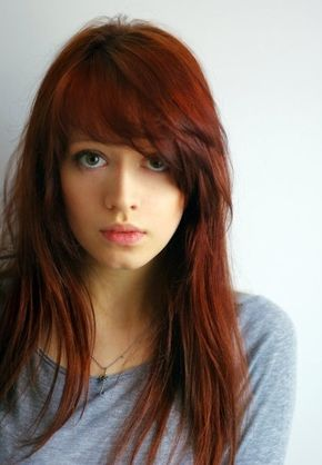 Love love the long, side swept bangs.  Should have done this before I cut it!  Ugh!