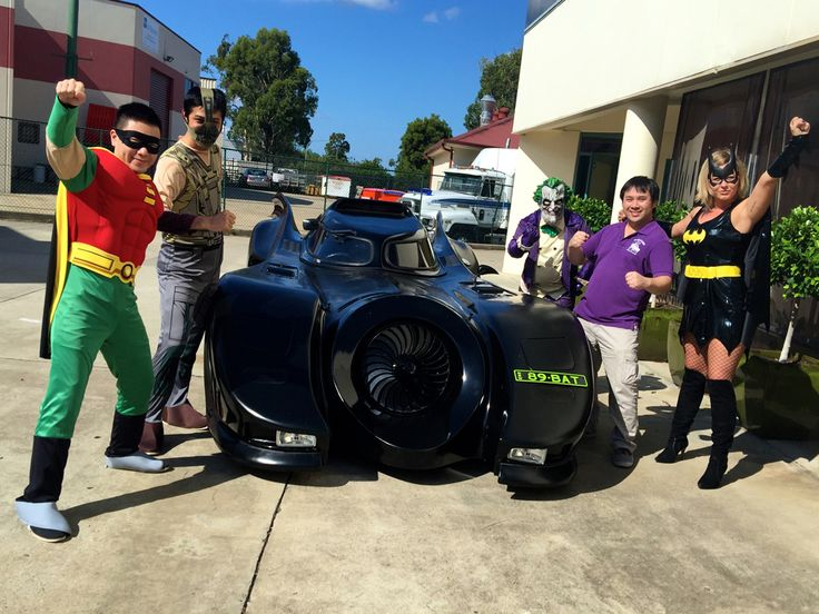 Group photo in the car park for Mardi Gras 2015