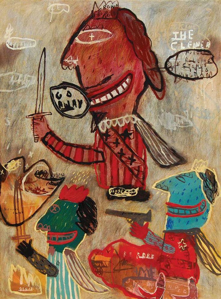 "Saatchi Art Artist deny pribadi; Painting, ""the cleaner"" #art"