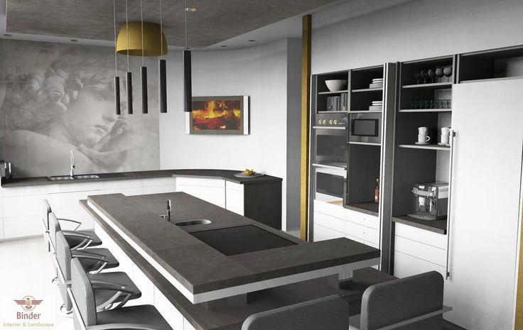 die besten 25 k che mit theke ideen auf pinterest k chentheke inspiration wei e barhocker. Black Bedroom Furniture Sets. Home Design Ideas