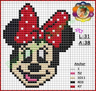 Lots of free Minnie and Mickey x-stitch