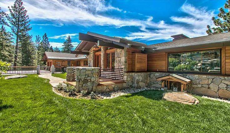 splendide panorama pour cette maison bois et pierre traditionnelle am ricaine. Black Bedroom Furniture Sets. Home Design Ideas