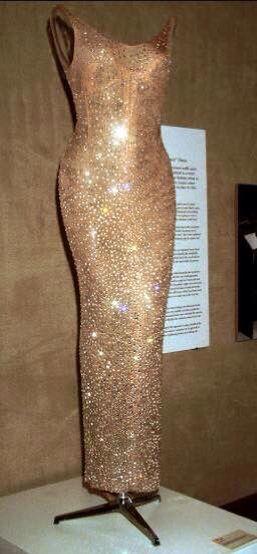 Marilyn Monroe's dress she wore for JFK'S  Birthday Gala. 1962