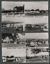Swanage Phippards caravan site campsite. Dearden & Wade RP postcards Dorset n102