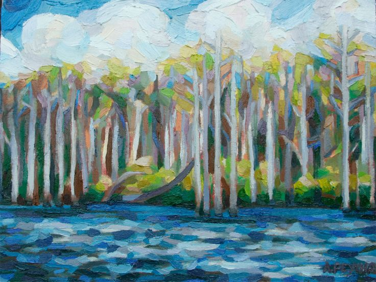 Spring Lake and Trees