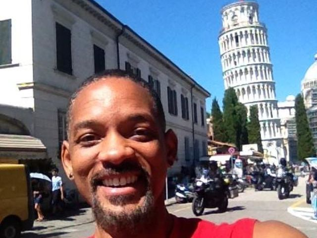 Will Smith in vacanza a Pisa