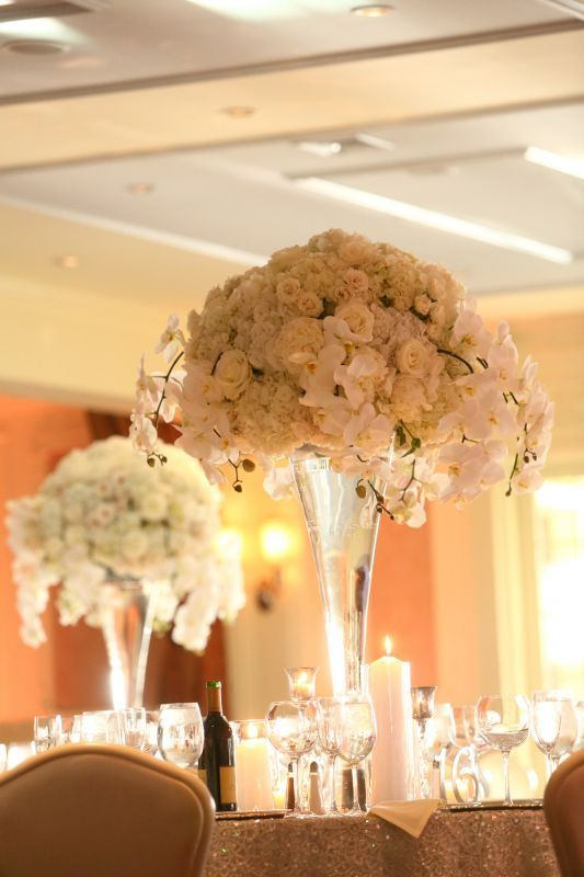 White carnations centerpiece wedding ideas pinterest