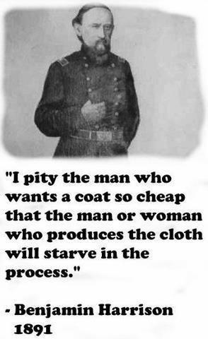 120 years old quote - so true today!  #sprawiedliwyhandel #fairtrade
