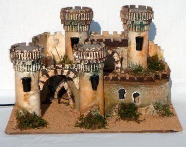 1313-Castillo con antorchas