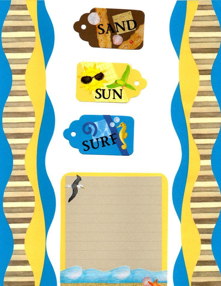 Premade Scrapbook Borders  W/Creative Memories~SAND, SUN,SURF