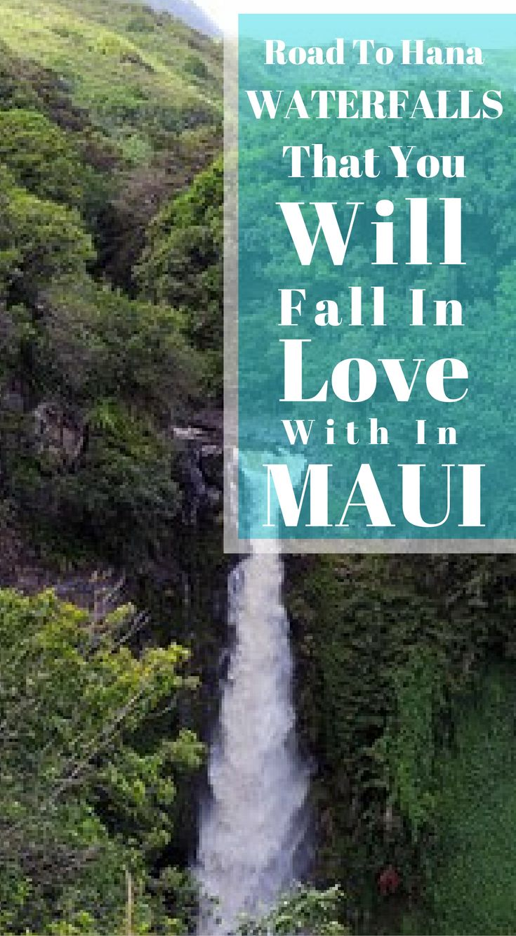 The road to Hana, waterfalls that you will fall in love with in Maui. This drive has amazing landscape views of the Maui's coastline, enchanting waterfalls, black sand beaches and much more. There is no wonder why the road to Hana gets voted as one of the best road trips in the world every year. Click to read more at http://www.divergenttravelers.com/road-to-hana-adventure-of-a-lifetime/