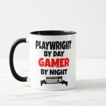 Playwright Loves Playing Video Games Mug - love quote quotes gift idea diy special design