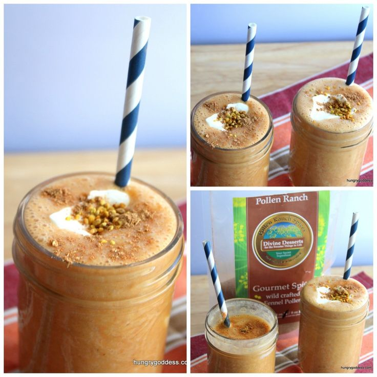 Healthy Pumpkin Smoothies by The Hungry Goddess