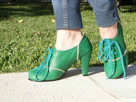 Mira este artículo en mi tienda de Etsy: https://www.etsy.com/es/listing/190768895/high-heel-leather-handmade-shoes-women