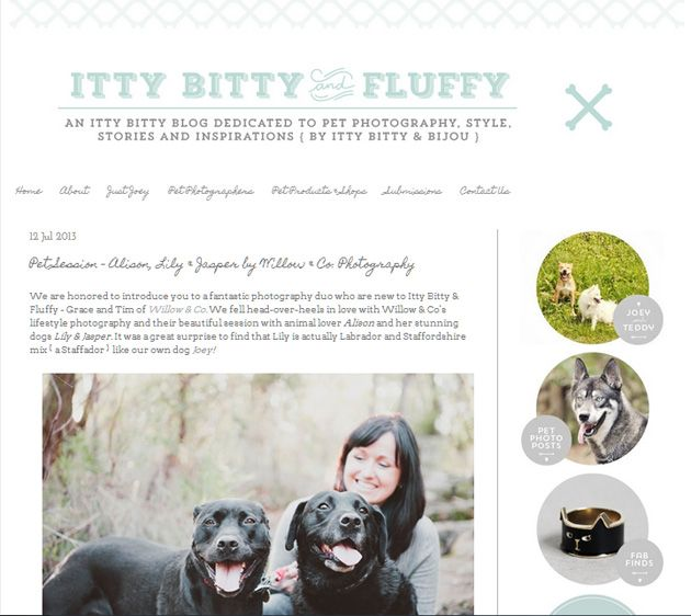 Alison, Jasper & Lily's portrait session featured on UK dog & lifestyle blog, Itty Bitty & Fluffy