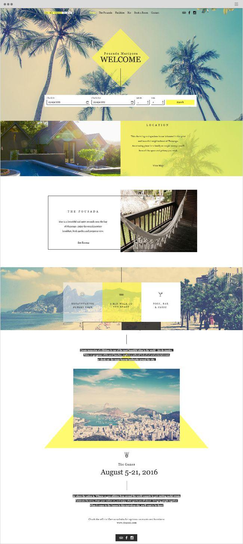 Rio Pousada Mariposa Website Template