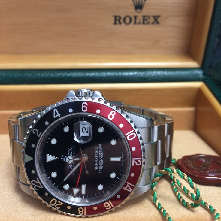 #Classic Rolex GMT-Master II 'Coke' http://www.globalwatchshop.co.uk/rolex-gmt-master-ii-16710-coke-bezel.html?utm_content=bufferbaeb8&utm_medium=social&utm_source=pinterest.com&utm_campaign=buffer Rolex warranty - Full kit #Available