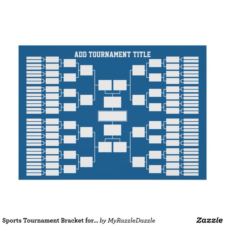 Sports Tournament Bracket For 64 Teams Poster Zazzle Com In 2021 Sports Tournaments Tournaments School Sports Posters