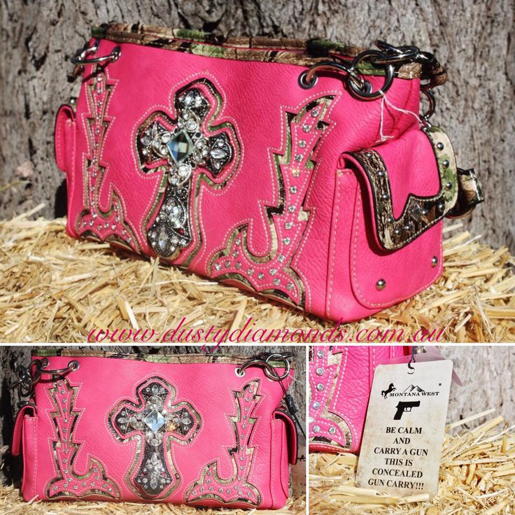 Montana West Concealed Gun Carry - Hot Pink Spiritual Bling Handbag sold by Dusty Diamonds Australia at affordable prices Www.dustydiamonds.com.au