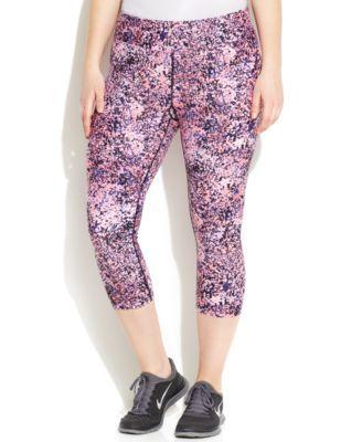 Calvin Klein Performance Plus Size Printed Capri Leggings | macys.com
