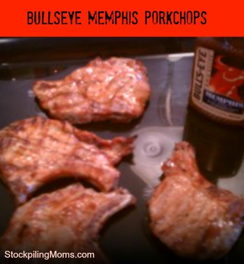 MEMPHIS STYLE PORK CHOPS | This is an easy easy grill item, yet so so good!! We usually grill each side around 5-6 minutes. The middle of pork should always be white when cooked! We like to serve it with corn and a salad. | CLICK FOR RECIPE