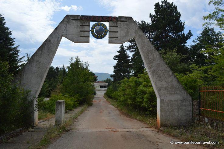 abandoned Hotel Europa, Macedonia, Yugoslavia