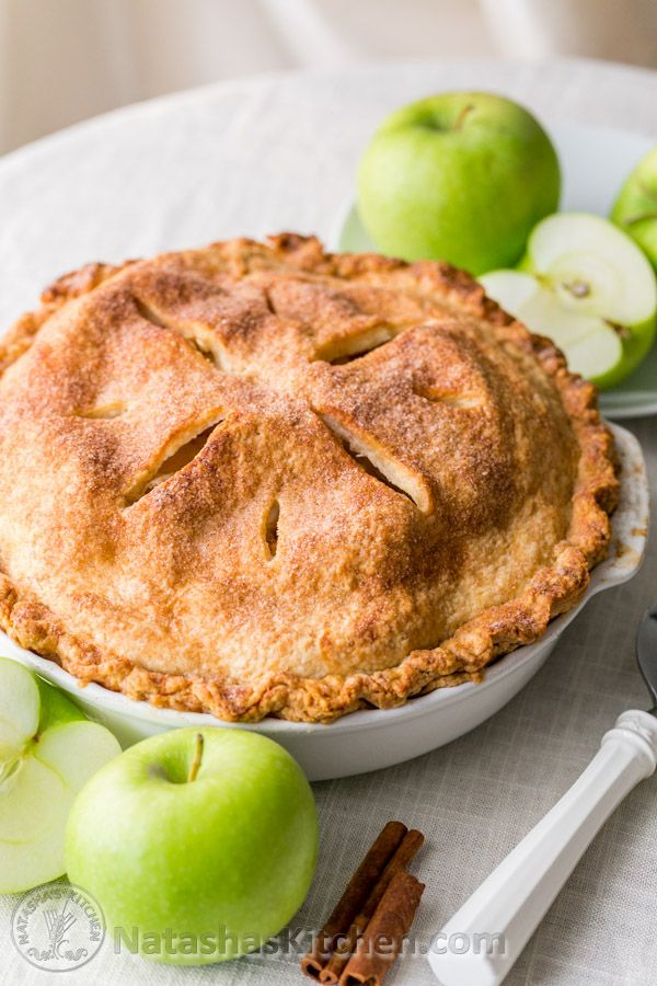 This apple pie turned out amazing; the best one I've tried! The flaky cream cheese crust seals in all the bubbly apple cinnamon juices; ust scrumptious.