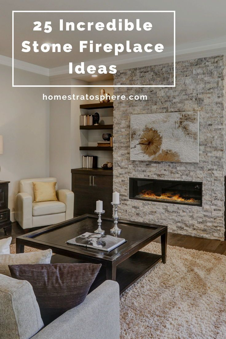 25 Incredible Stone Fireplace Ideas Stone Fireplace Stone Fireplace Designs Modern Furniture Living Room