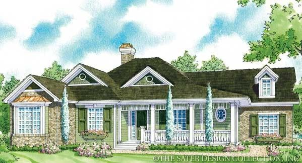 "Sater Design Collection's 7075 ""Laurel Lake"" Home Plan from our Farmhouse Plan Portfolio..."