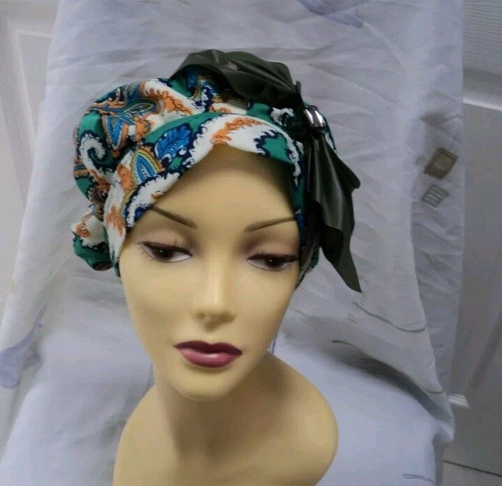 Multi Colour slouchy hat hijab hair covered Chemo size 59 cm summer Cap