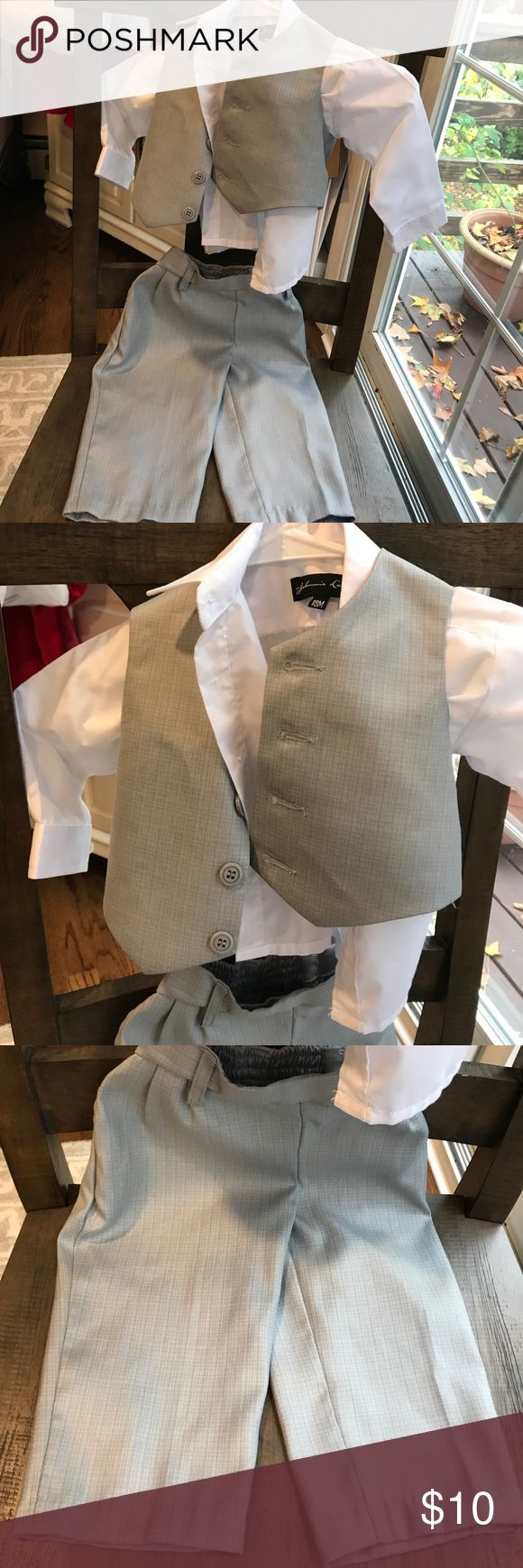 Boys infant gray suit 3 piece infant gray suit. Only worn once  Please look over all pictures before purchasing. Matching Sets