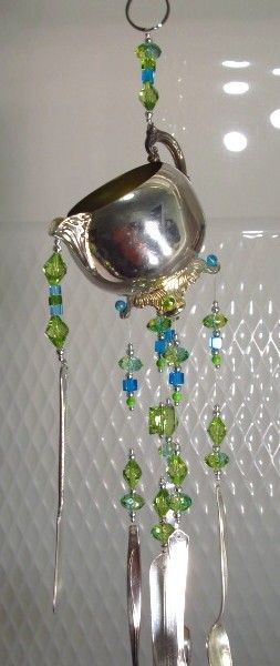 1000 images about windchimes suncatchers on pinterest for Wind chimes out of silverware