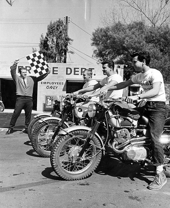 March 10 1964 Reads Wagon Train Cycle Style The Start Ready To Roar Off On A Three Month Central American Tour After Van Nuys New Honda Monster Trucks
