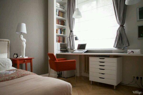 Интерьер как он есть - Как организовать: гостиная + 2 рабочих места?