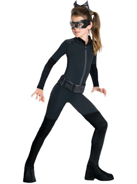 Girls The Dark Knight Rises Catwoman Costume - Party City