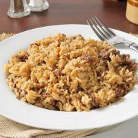 Hearty Hamburger & Rice Casserole